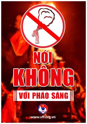 Banner nói không với Pháo sáng