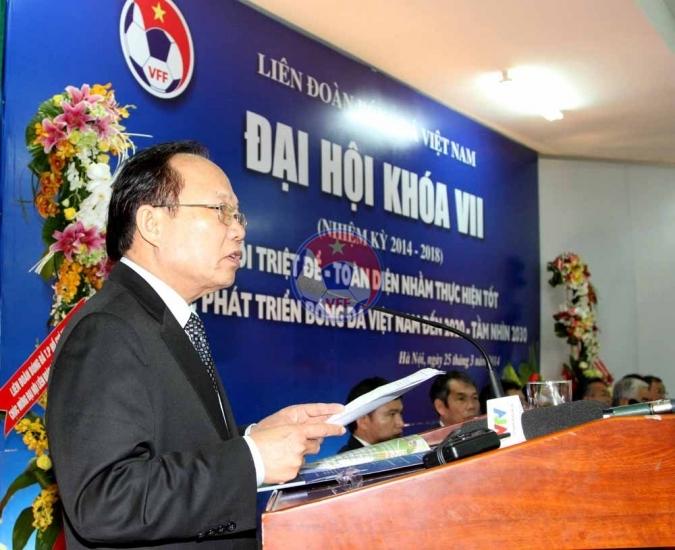 Quang cảnh Đại hôi Liên đoàn bóng đá Việt Nam khóa VII