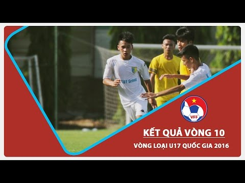 VÒNG LOẠI U17 QUỐC GIA 2016: KẾT QUẢ LƯỢT TRẬN THỨ 10