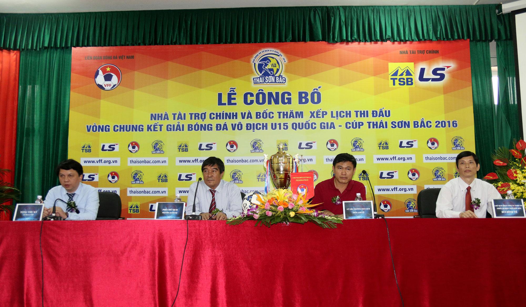Lễ công bố NTT chính và bốc thăm xếp LTD VCK giải Bóng đá Vô địch U15 Quốc gia - Cúp Thái Sơn Bắc 20
