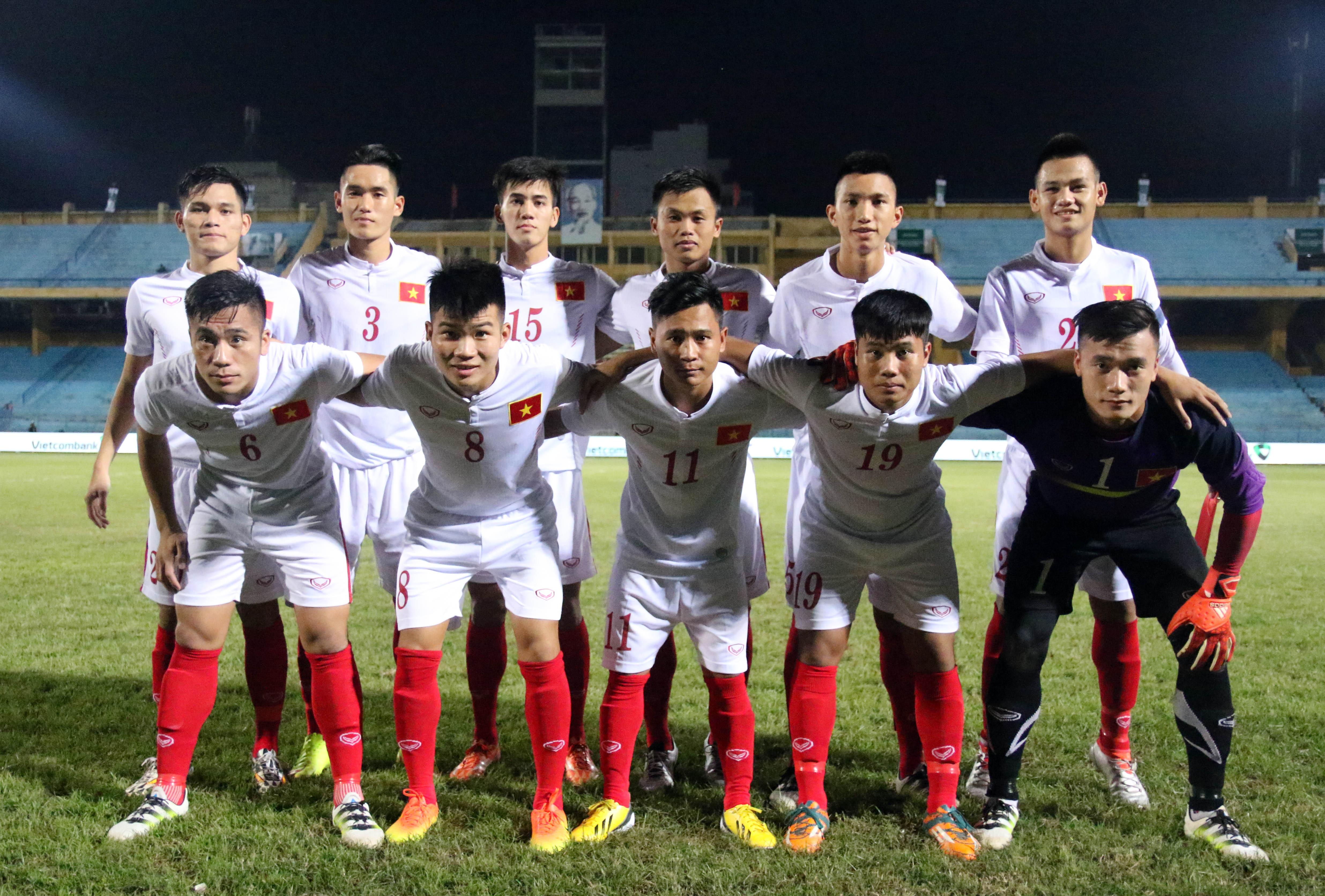 Một số hình ảnh của trận đấu giữa đội tuyển U19 Việt Nam - U19 Timor Leste tại giải U19 vô địch Đông