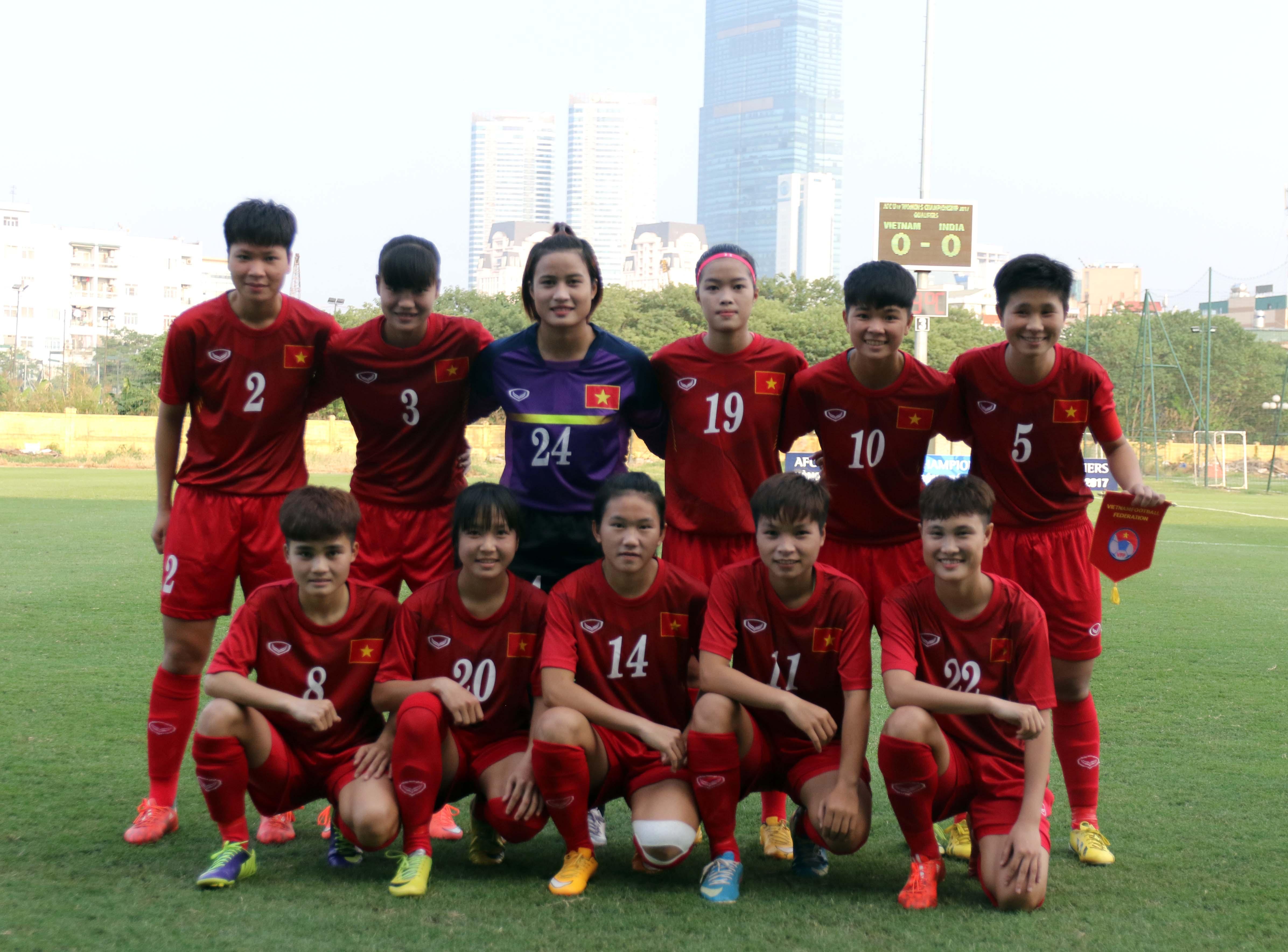 Album ảnh U19 Viet Nam - U19 INDIA tại vòng loại bảng D giải Bóng đá U19 Nữ Châu Á 2016
