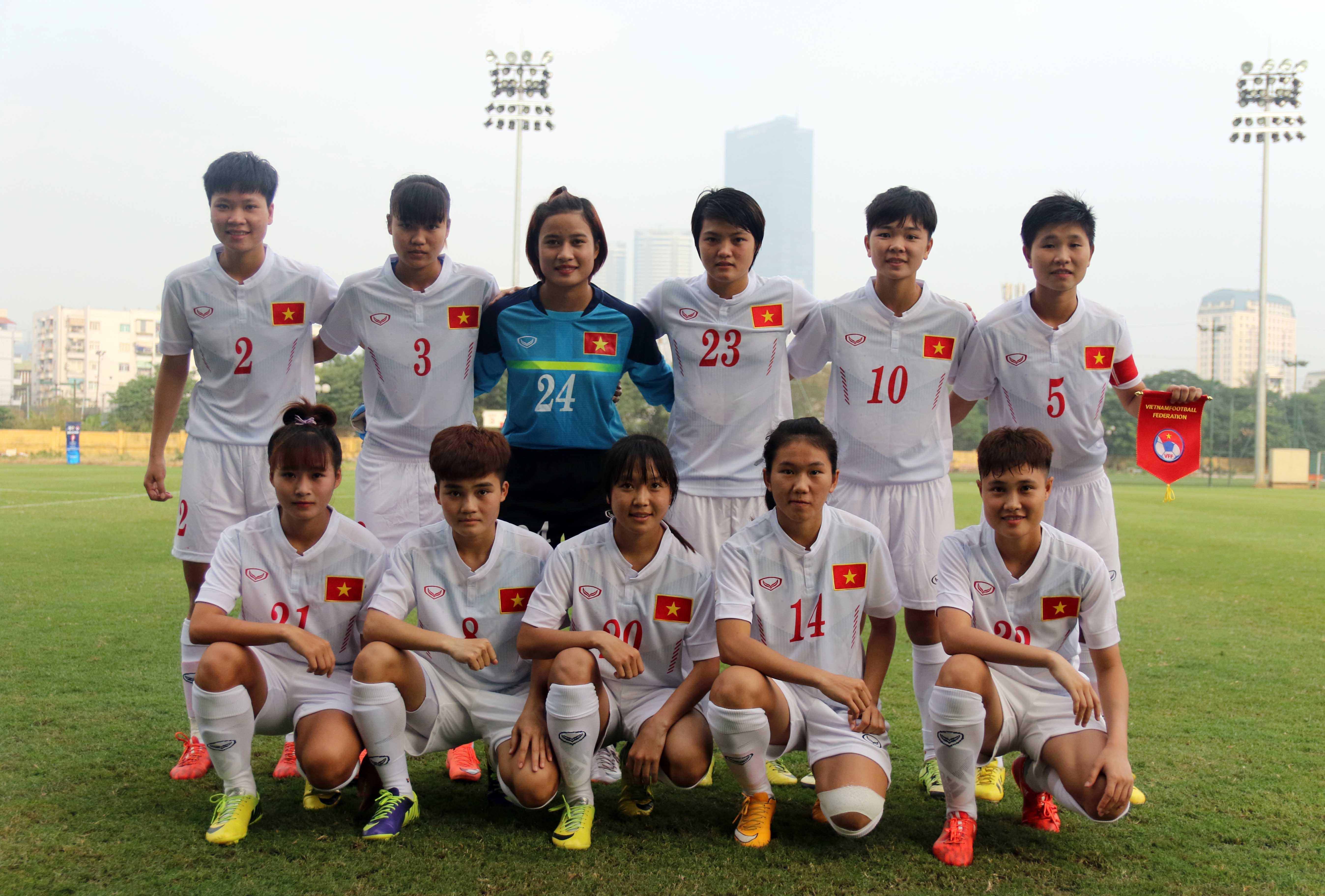 Chùm ảnh U19 Việt Nam - U19 IRAN tại vòng loại bảng D giải Bóng đá U19 Nữ Châu Á 2016