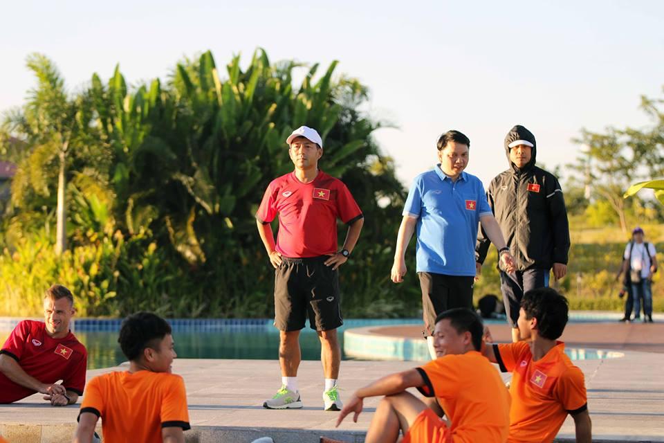 Đội tuyển Việt Nam có buổi tập đầu tiên tại Nay Pyi Taw