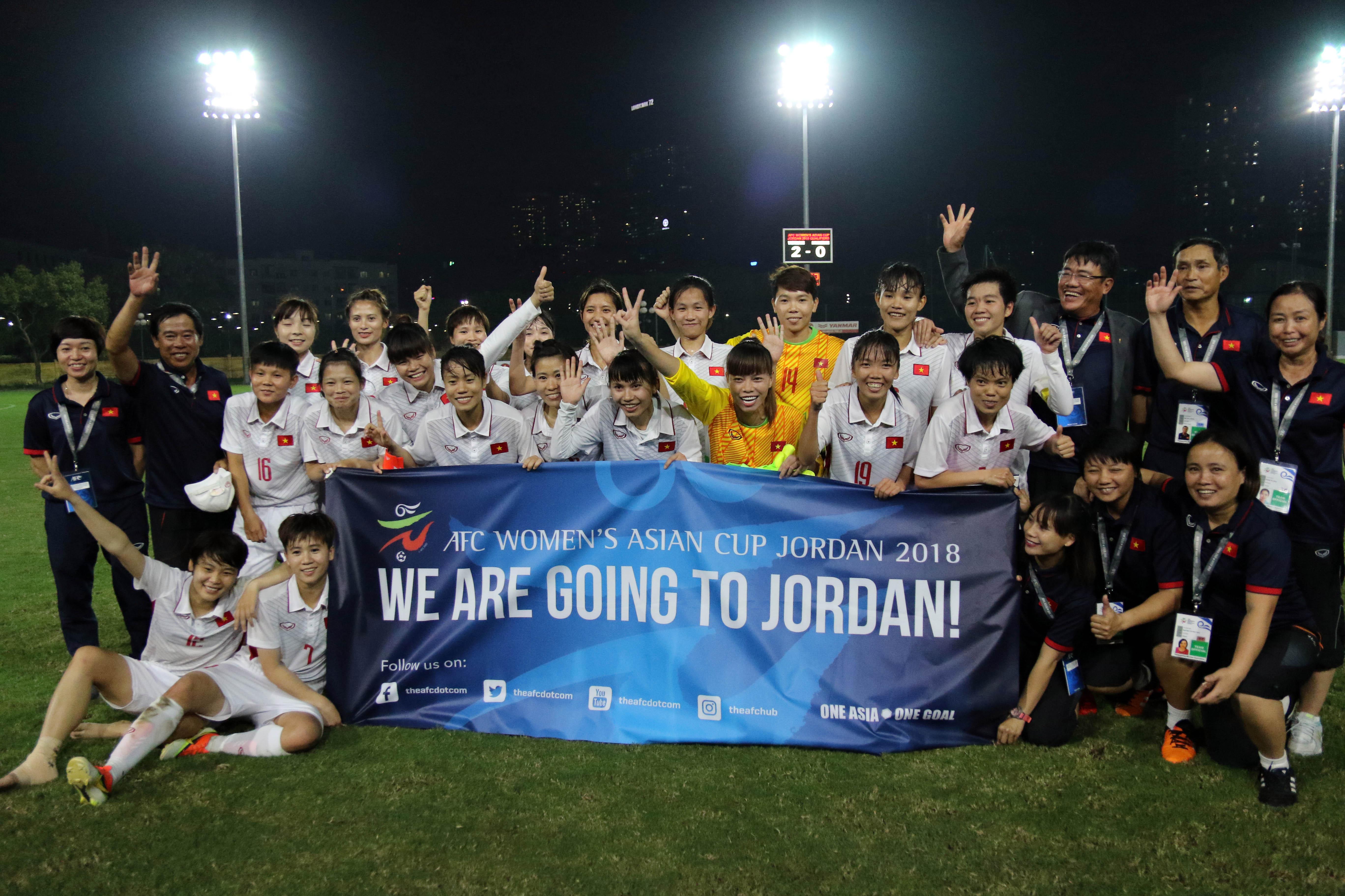 Album ảnh trận đấu giữa tuyển Nữ Việt Nam - Myanmar tại VL bảng D giải bóng đá Nữ vô địch Asian Cup 2018