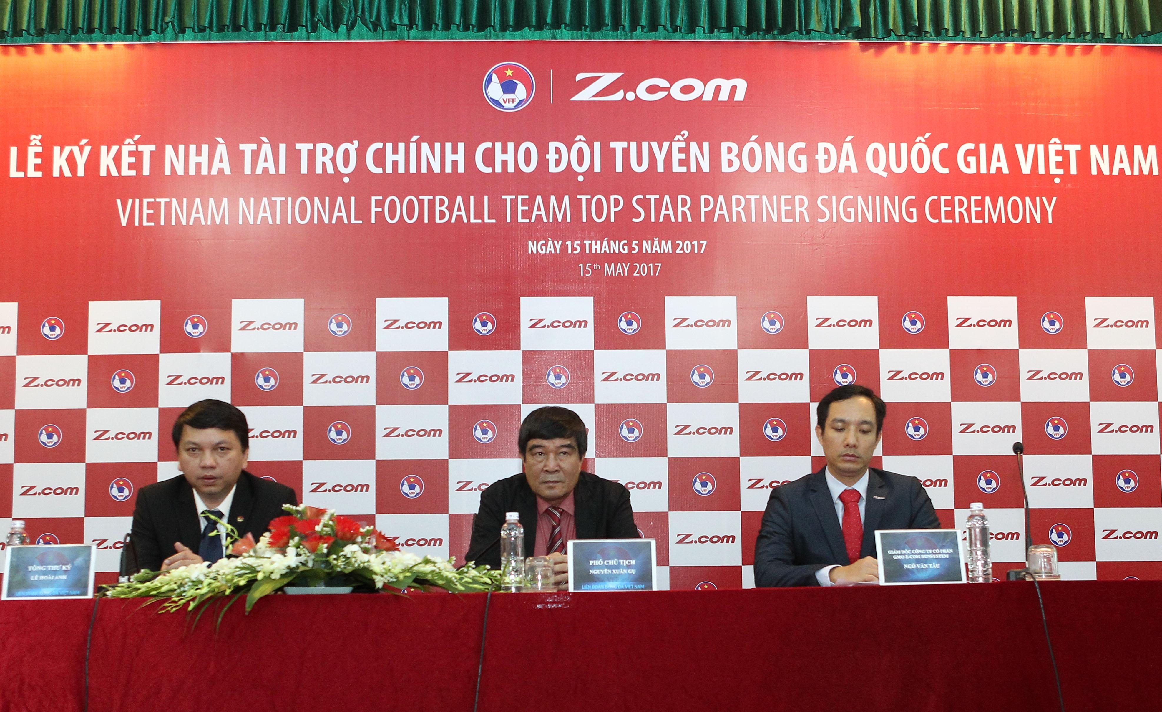 Lế kí kết với Nhà Tài Trợ Chính ZCOM cho đội tuyển Bóng đá Quốc Gia Việt Nam