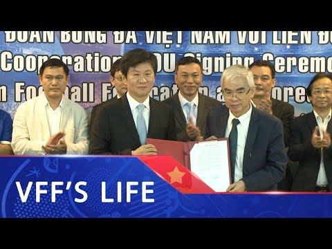 Lễ ký hợp tác giữa LĐBĐ Việt Nam và LĐBĐ Hàn Quốc