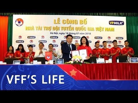 VPMILK tiếp tục trở thành nhà tài trợ Đội tuyển Quốc gia Việt Nam 2018