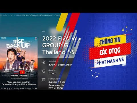 Mua vé online trận ĐT Thái Lan-Việt Nam ở vòng loại World Cup 2022