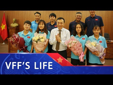 Lãnh đạo VFF chúc mừng các ĐT bóng đá nữ Quốc gia nhân ngày Phụ nữ Việt Nam 20/10