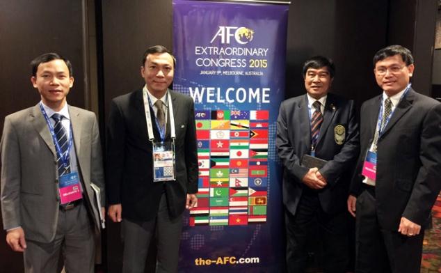 Lãnh đạo VFF tham dự Đại hội bất thường AFC tại Melbourne (Australia)