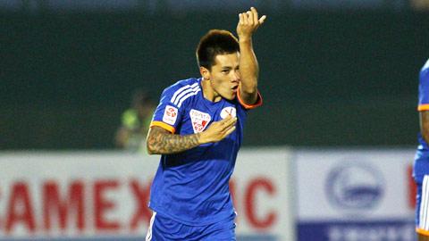 """Trận Than.Quảng Ninh thắng B. Bình Dương 2-1: Hải """"gà"""" vẫn là """"gà son"""""""