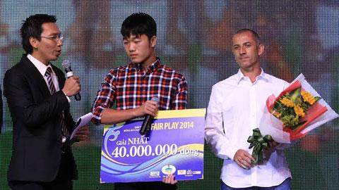 Giải thưởng Fair-play 2014: U19 Việt Nam lần thứ hai đoạt giải