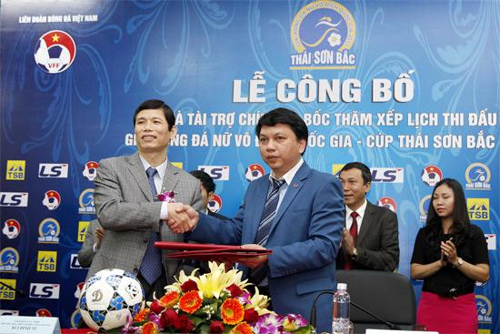 Công bố và bốc thăm xếp lịch thi đấu giải bóng đá nữ VĐQG - Cúp Thái Sơn Bắc 2015