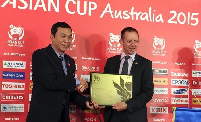 Trưởng điều hành VCK Asian Cup Trần Quốc Tuấn cảm ơn Bộ trưởng thể thao Australia