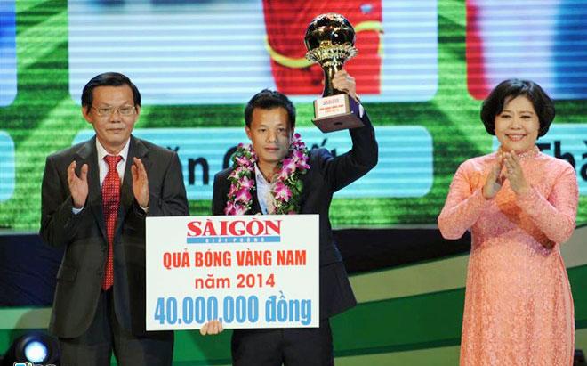 Thành Lương, Tuyết Dung giành giải thưởng Quả bóng vàng Việt Nam 2014