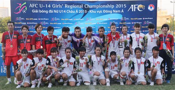 Việt Nam vô địch giải bóng đá nữ U14 châu Á 2015 – khu vực Đông Nam Á