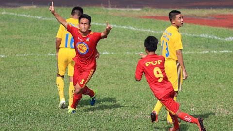 Kết quả bảng B VCK giải bóng đá U17 Quốc gia báo Bóng đá - Cúp Thái Sơn Nam 2015: PVF giành ngôi đầu bảng