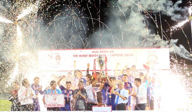 Kết thúc Giải VĐQG Toyota 2015: Hà Nội T&T giành ngôi Á quân, Đồng Nai xuống hạng