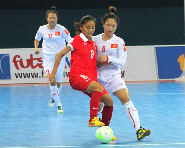 Giải Vô địch Futsal nữ châu Á 2015 (22/9), Việt Nam thua Trung Quốc 2-3: Tiếc
