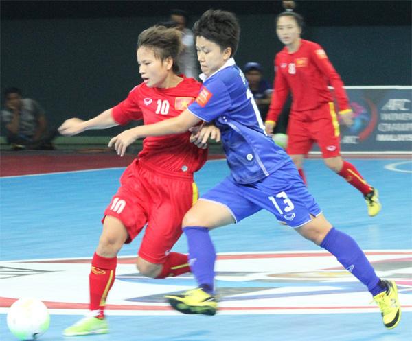 Vòng bảng Giải Futsal nữ châu Á 2015: Thua Thái Lan 1-2, tuyển nữ Việt Nam dừng chân