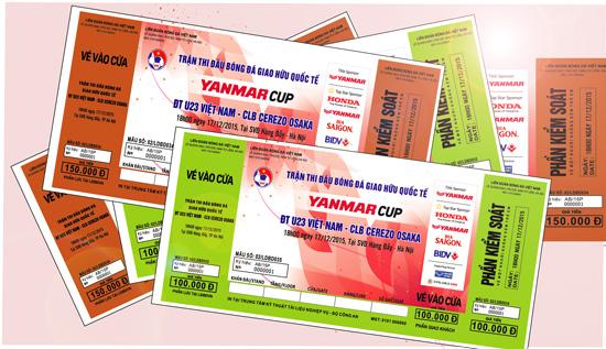 [Kế hoạch bán vé] Trận giao hữu quốc tế giữa ĐT U23 Việt Nam và CLB Cerezo Osaka