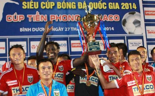 Ngày 30/1/2016, trận Siêu Cúp QG 2015 sẽ diễn ra trên sân Thanh Hóa