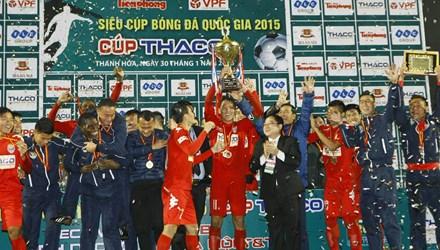 Thắng Hà Nội T&T 2-0, Becamex Bình Dương giành Siêu Cúp QG 2015