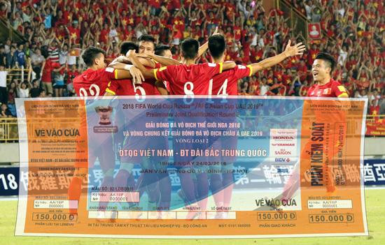 Thông tin về kế hoạch bán Vé xem trận đấu giữa ĐT Việt Nam và ĐT Chinese Taipei