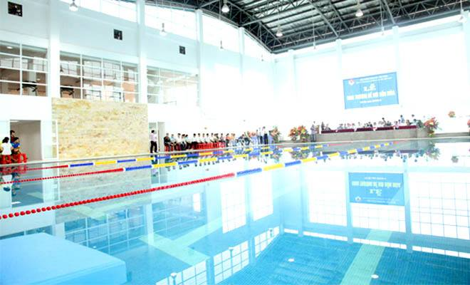 Ngày 28/4, khai trương mùa bơi 2016 tại Trung tâm Đào tạo Bóng đá Trẻ Việt Nam