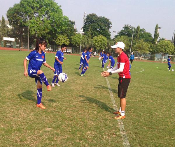 Tiến tới giải U14 châu Á 2016 – khu vực ĐNA: Tuyển nữ U14 chú trọng kỹ thuật và thể lực