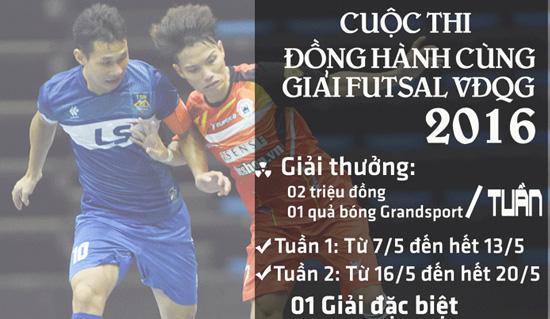 """Thông báo về thời điểm kết thúc đợt 2 cuộc thi """"Đồng hành cùng giải Futsal VĐQG 2016"""""""