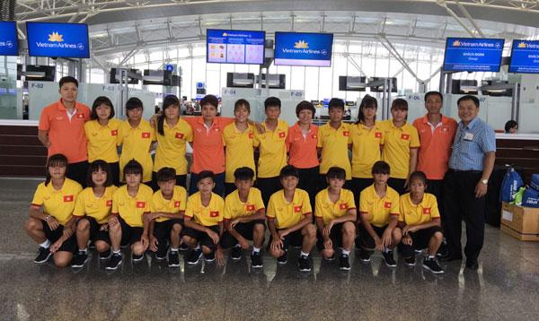 Đội tuyển U14 nữ Việt Nam lên đường tham dự giải BĐ u14 nữ châu Á 2016 - khu vực ĐNA