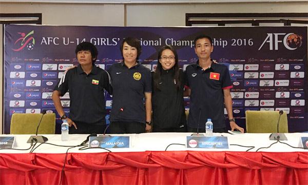 Giải bóng đá U14 nữ châu Á 2016 - khu vực ĐNA: Đội tuyển Việt Nam đặt mục tiêu có mặt tại chung kết