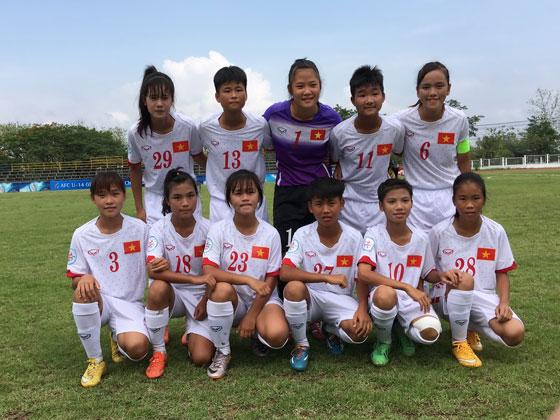 Giải bóng đá U14 nữ châu Á 2016 - khu vực ĐNA: Việt Nam chia điểm với Myanmar