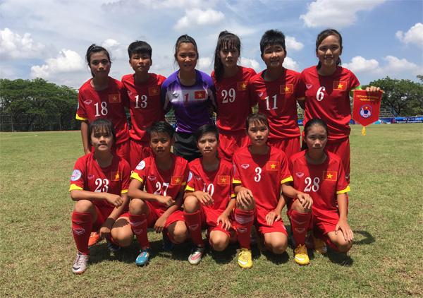 Giải bóng đá nữ U14 châu Á 2016 – khu vực Đông Nam Á (1/6): Việt Nam có chiến thắng đầu tiên