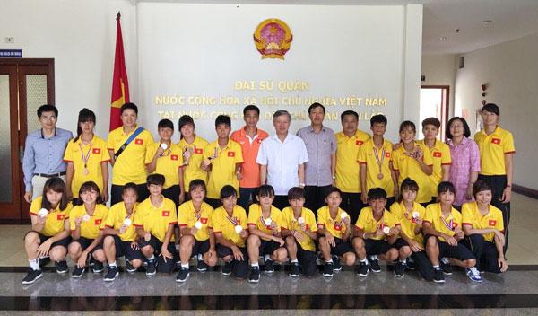 Đội tuyển U14 nữ Việt Nam về nước, kết thúc chuyến thi đấu tại giải U14 nữ châu Á 2016