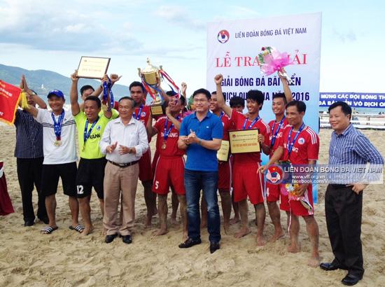Thắng kịch tính, Đà Nẵng đăng quang tại Giải bóng đá bãi biển VĐQG 2016