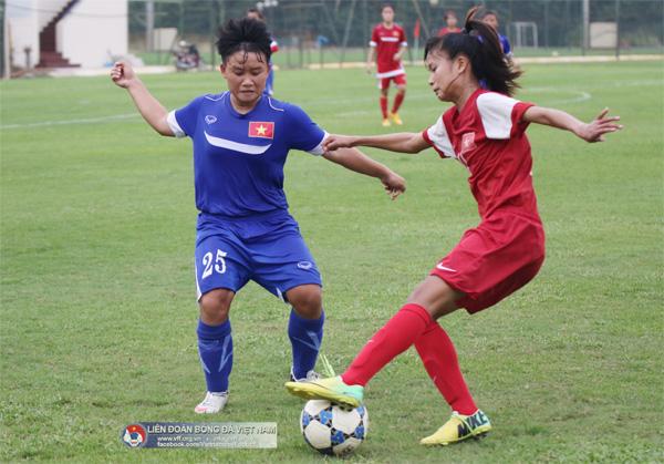 Đội tuyển U16 nữ Quốc gia đấu tập với U16 nữ Hà Nội (18/8): Hoàn thiện đội hình