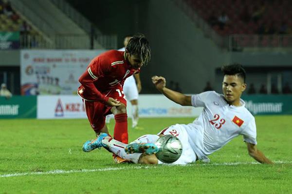 KBZ Bank Cup 2016: Chia điểm với Myanmar, U19 Việt Nam tạm dẫn đâù cuộc đua