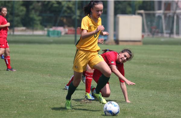 VL bảng D giải U16 nữ châu Á 2017: Australia dội mưa bàn thắng vào lưới Palestine