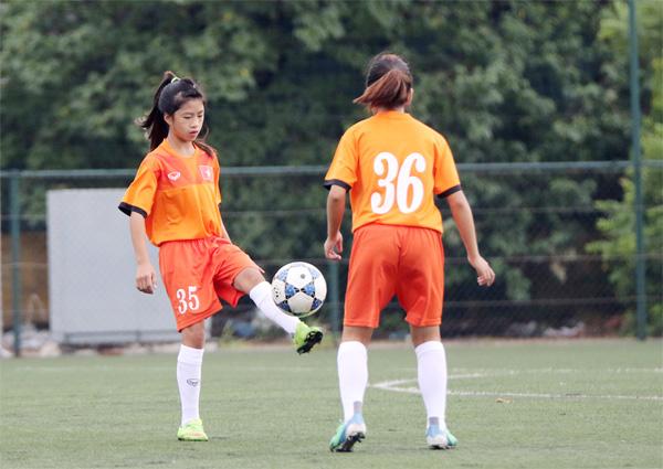 VL bảng D giải U16 nữ châu Á 2017: Đội Việt Nam tập nhẹ, tôn trọng đối thủ