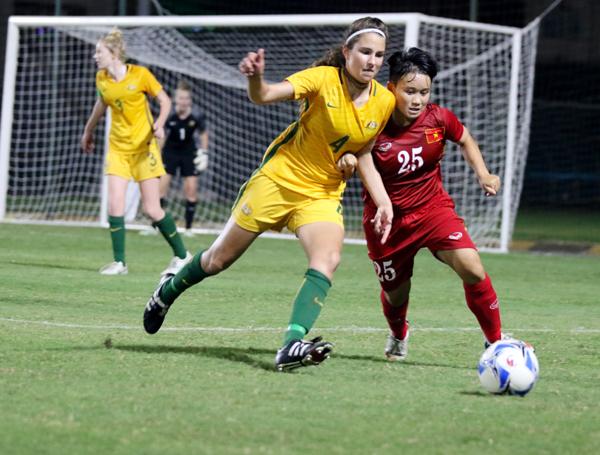 U16 nữ Việt Nam không tạo được bất ngờ trước U16 nữ Australia