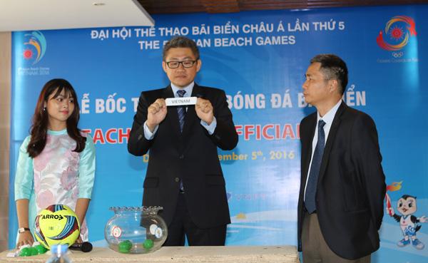 ĐT bóng đá bãi biển Việt Nam cùng bảng với Thái Lan và Lào tại ABG 2016