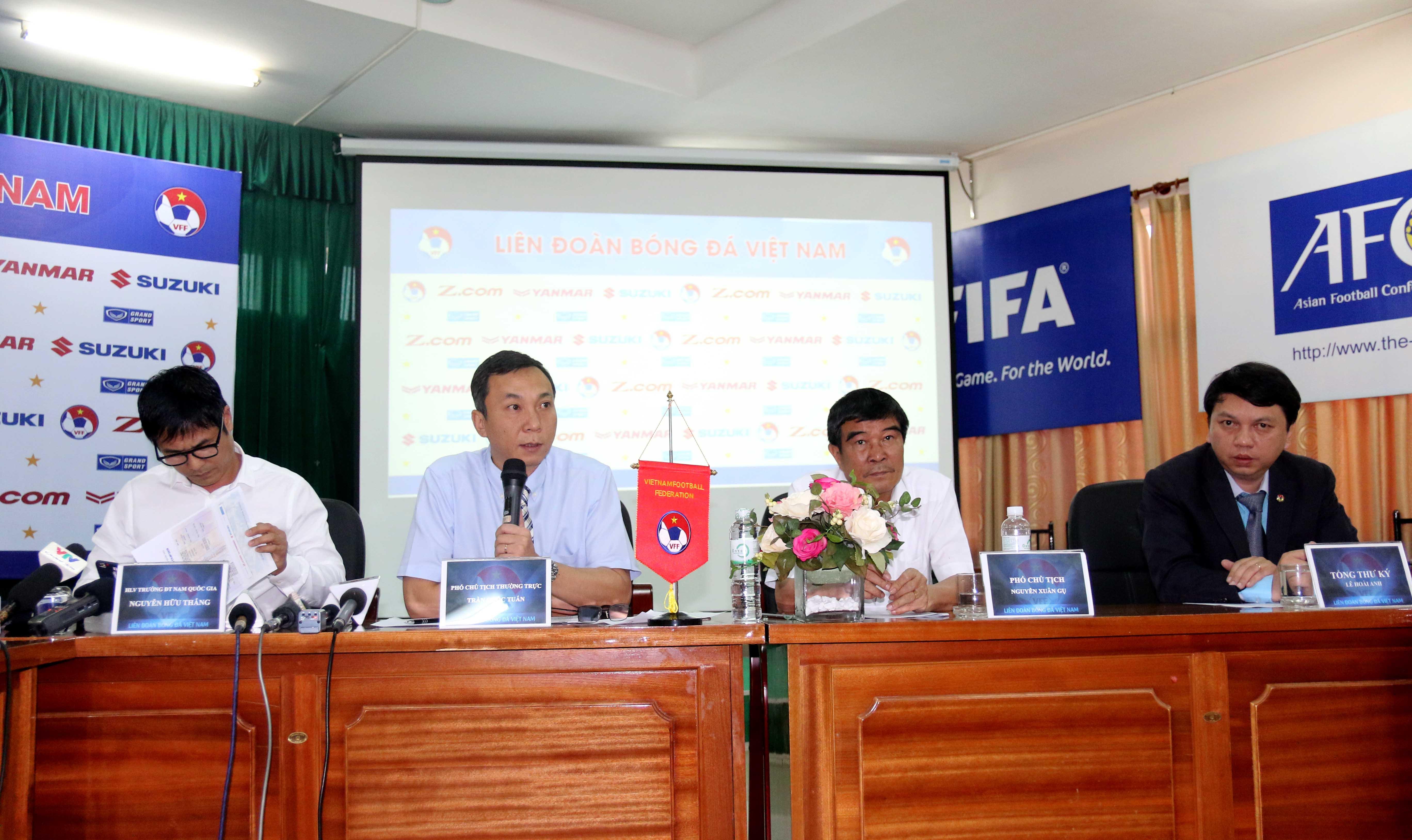 Công bố danh sách tập trung ĐTQG chuẩn bị cho AFF Suzuki Cup 2016