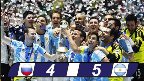 Argentina vô địch Futsal World Cup 2016 trong nghẹt thở