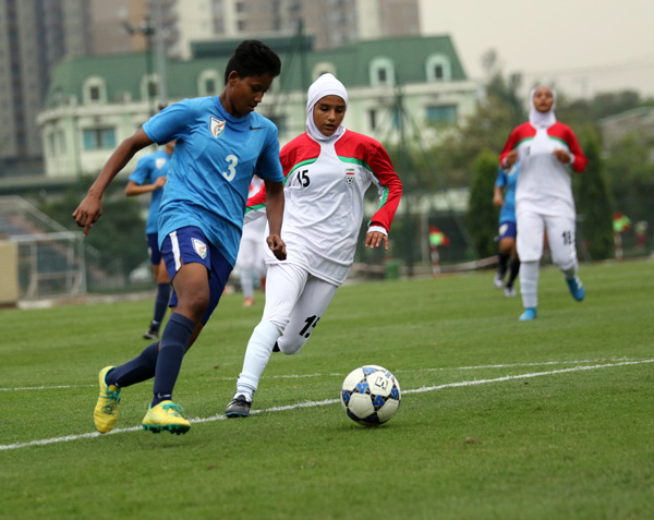 Bảng D - Vòng loại giải U19 nữ châu Á 2017: Ấn Độ chia điểm với Iran trận mở màn
