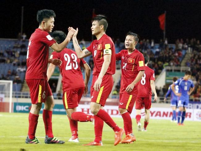 ĐT Việt Nam kết thúc năm 2016 ở vị trí 134 trên BXH FIFA