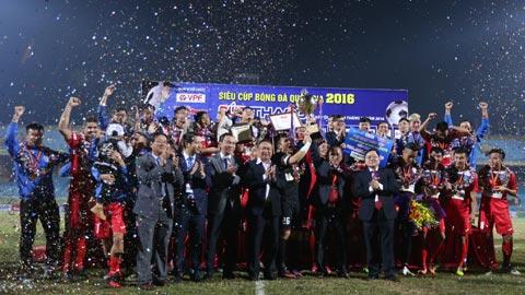 Thắng Hà Nội sau loạt luân lưu 11m, Than Quảng Ninh đoạt Siêu Cúp QG - Cúp Thaco 2016