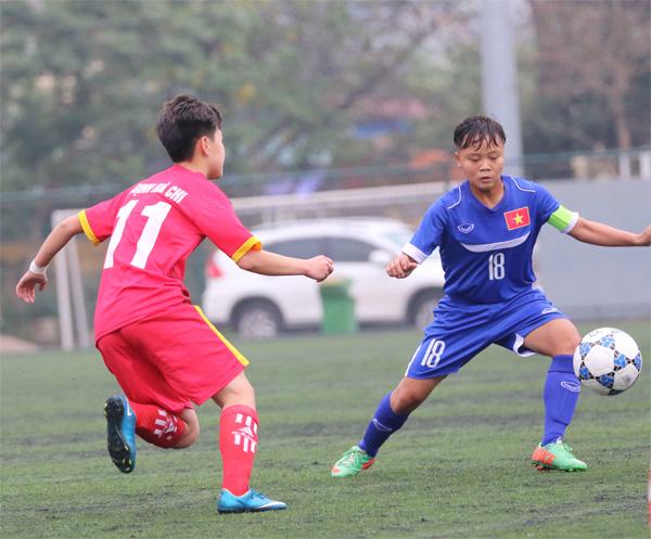 Lượt trận thứ 3 giải BĐ tập huấn nữ U16 năm 2017 (12/3): Hà Nam vững ngôi đầu